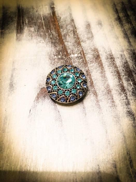 Snap Button Jewels® | Rhinestone | Blue |Hue Snap