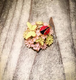 Snap Button Jewels™ | Fashion | Multi Color | Lady Bug Flower | Garden Snap