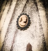 Snap Button Jewels® | Fashion | Light Brown | Italian Cameo