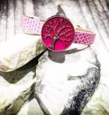 bracelet | pink | croc leather | 1 Snap
