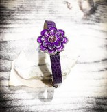 bracelet | purple | croc leather | 1 Snap