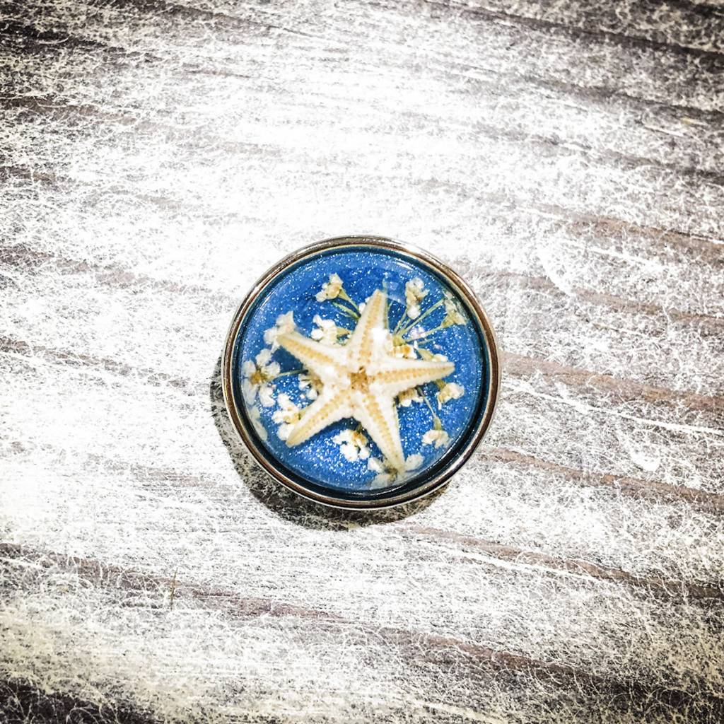Snap Button Jewels™ | Fashion | Turquoise | Bubble | Starfish