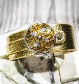 Snap Button Jewels™   Fashion   Gold   Quatre Fleur