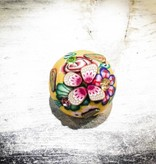 Snap Button Jewels™ | Fashion | Yellow | Floral Button