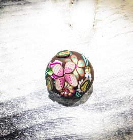 Snap Button Jewels™ | Fashion | Brown | Floral Button