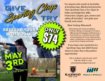 Blackwood Events Give Sporting Clays a Try
