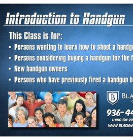 Blackwood Academy Introduction to Handgun 9-1-2018