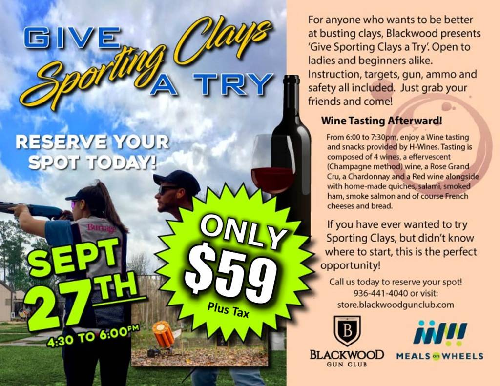 Blackwood Events Give Sporting Clays a Try 9-27-2018
