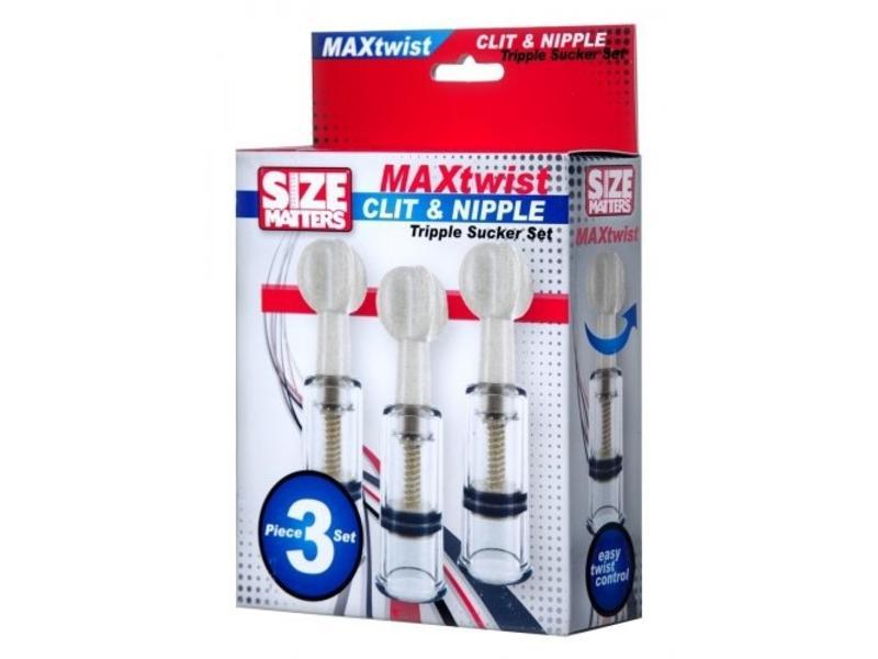 Max Twist Clit & Nipple Triple Sucker Set