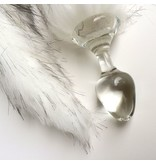 Crystal Delights Crystal Delights Minx Faux Tail Short Stem Small Plug (Tundra Wolf)