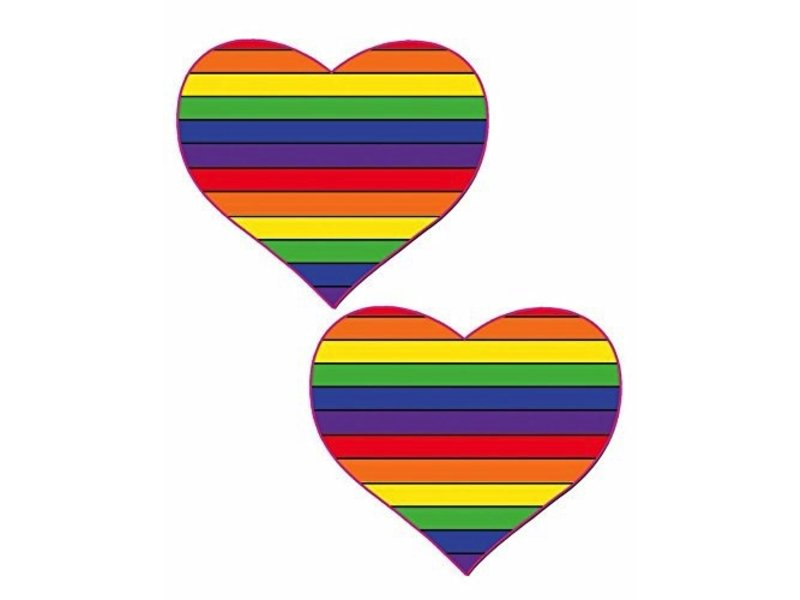 Pastease Rainbow Heart Pasties