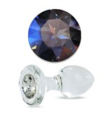 Crystal Delights Crystal Delights Short Stem Medium Clear Plug (Mystique)