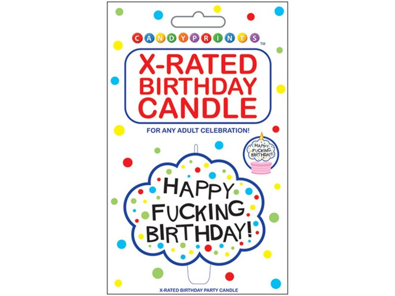 Happy Fucking Birthday Candle
