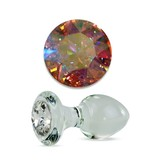 Crystal Delights Crystal Delights Short Stem Large Clear Plug (Aurora Borealis)