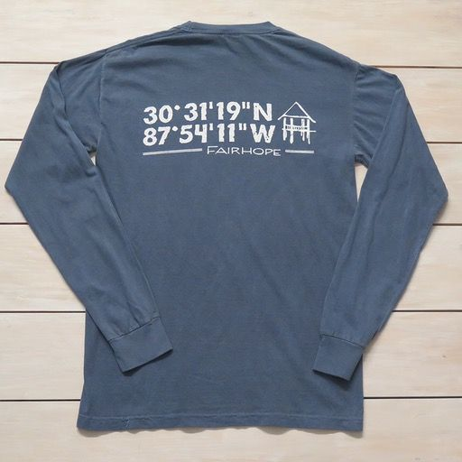 Fairhope Coordinates Long Sleeve T-Shirt