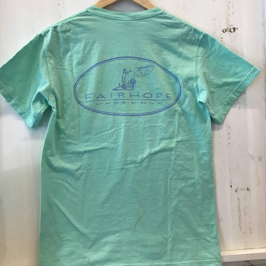 Fairhope Cast Net Short Sleeve T-Shirt w/Pocket