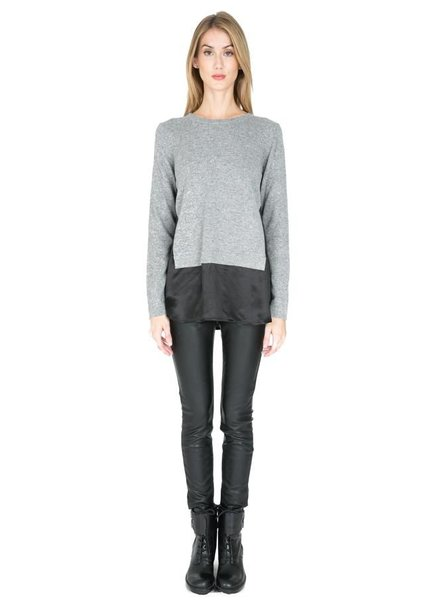 ZERO DEGREES CELSIUS ZERO DEGREE SILK PANELED SWEATER