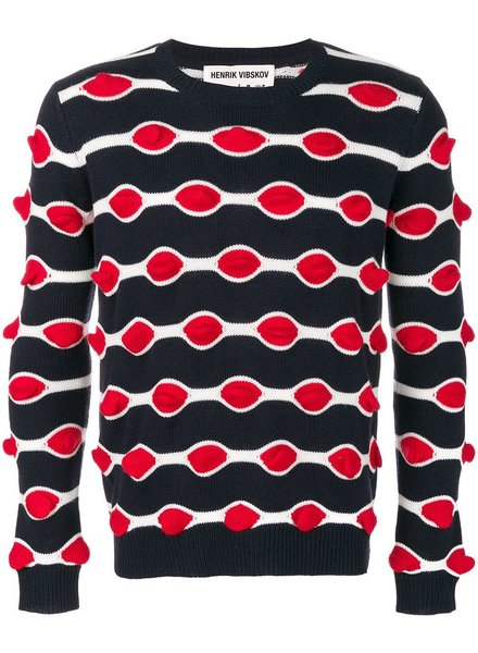 HENRIK VIBSKOV HENRIK VIBSKOV RED KISS SWEATER