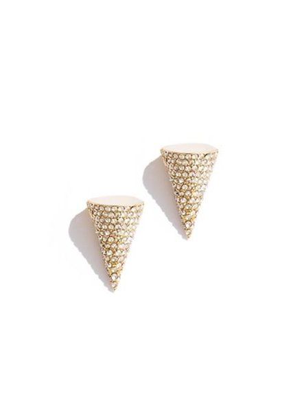 SARAH MAGID SARAH MAGID PAVE CONE STUDS EARRINGS
