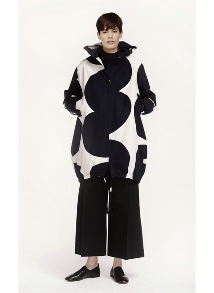 MARIMEKKO MARIMEKKO VIHMA LONG JOKERI JACKET OFF WHITE/DARK BLUE