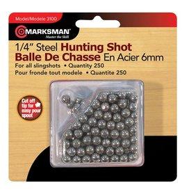 Marksman Marksman Steel Slingshot Pellets 6mm 250 Pack