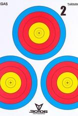 3006 3006 Mini Paper Target 3 Spot Vegas (Each)