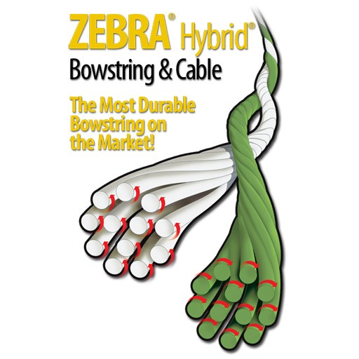 "Barracuda Zebra Bow String  58 3/4"" Riot"
