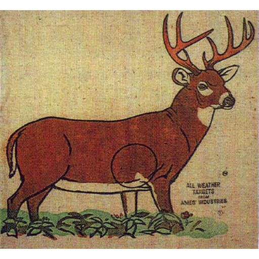 AMES Ames All Weather Burlap Pillow Target Whitetail Deer