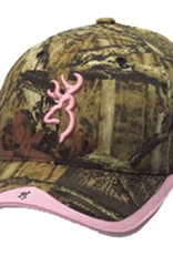 Browning Camo Hat w/Pink Buckmark & Pink Accents