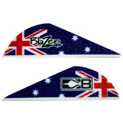 "Bohning Archery Bohning Blazer Vane 2"" Australia Flag 100 Pack"