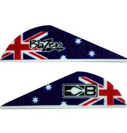 "Bohning Archery Bohning Blazer Vane 2"" Australia Flag 25 Pack"