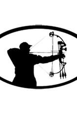 Bowhunter Shooting Oval 6x3.5