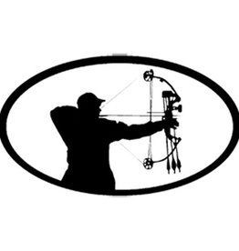 Bowhunter Shooting Oval 6x3.5