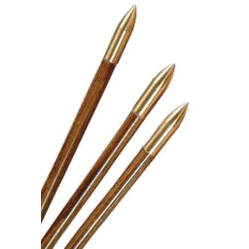 3Rivers Archery Bullet Nose Brass Glue On 11/32 125gr. (Each)