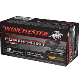 Winchester Winchester Power Point Max 22LR 42gr HP copper plated 50Pkt
