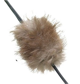 OMP Mt. Man Beaver Balls String Silencer Natural Brown 1pr/pk.