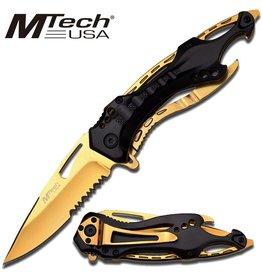 Piper Imports MTech Black/Gold Folding Knife 114mm