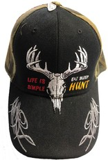 Piper Imports Life's is Simple Eat Sleep Hunt Cap Camo/Black