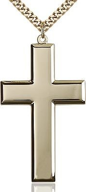 GF LARGE POLISHED CROSS W/ 27