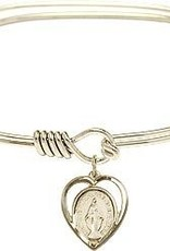 Bliss Manufacturing Miraculous Medal Oval Hook Bracelet Gold Filled