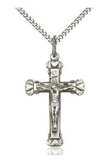 """Bliss Manufacturing Gold Filled Heart Crucifix with 18"""" Chain"""