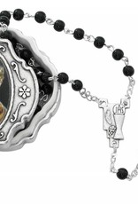 Black Communion Rosary with Communion Box