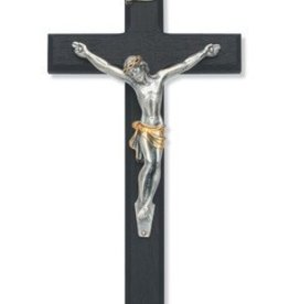 "McVan 10"" Black Cross with Two-toned Corpus Crucifix"