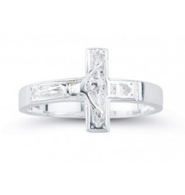 HMH Religious Sterling Silver Crucifix Ring Size 8