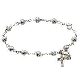 McVan 6mm Sterling Silver Rosary Bracelet