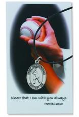 Baseball Prayer Card Set With Medal
