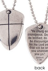 Christian Necklace - Small Shield Of Faith w/Cross