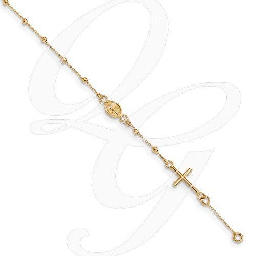 """14k Gold Rosary Bracelet 6.5"""""""