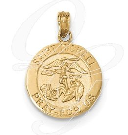 14K Gold St. Michael Medal Pendant Only