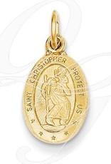 14K St. Christopher Medal Charm